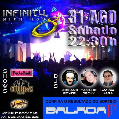 Flyer da Infinity do dia 31/08/2013