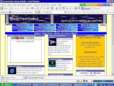Windows 98 rodando o Avant Browser
